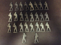 1970's (?) lot of Metal Baseball Batting Figures, 26 Each, ZQL