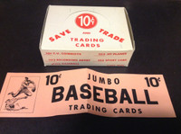 1950's Exhibit Supply, Trading Cards Empty Box (Lot A), ZQL