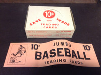 1950's Exhibit Supply, Trading Cards Empty Box (Lot B), ZQL