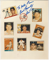 1960's Bob Turley, Yankees, Autograph on Baseball Card Photo Sheet, ZQL