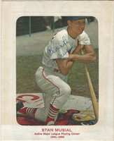 1963 Stan Musial, Cardinals, Autograph on Busch Stadium Promo Photo, ZQL