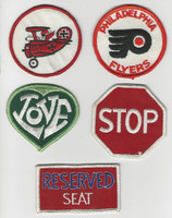 1970's Cloth Patches Lot, Philadelphia Flyers, Red Barron, Stop, Love, ZQL
