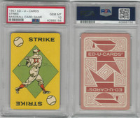 1957 Ed-U Cards, Baseball Card Game, Strike, PSA 10 Gem Mint