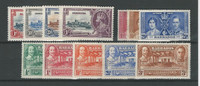Barbados, Postage Stamp, #186-188 NH, 190-2, 202-6 Mint Hinged, 1935-39 (p)