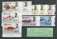 Mauritius, Postage Stamp, #339//356 Mint LH, 1969 Fish (p)