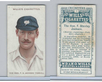 W62-76 Wills, Cricketers, 1908, #1 F. Stanley Jackson, Yorkshire