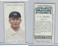 W62-76 Wills, Cricketers, 1908, #10 F.A. Tarrant, Middlesex