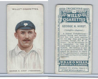 W62-76 Wills, Cricketers, 1908, #16 George Hirst, Yorkshire