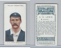 W62-76 Wills, Cricketers, 1908, #27 A. E. Lewis, Somerset