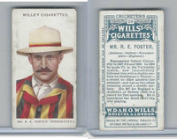 W62-76 Wills, Cricketers, 1908, #29 R.E. Foster, Worcester