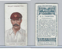 W62-76 Wills, Cricketers, 1908, #31 G.J. Thompson, Northamptonshire