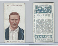 W62-76 Wills, Cricketers, 1908, #39 A. O. Jones, Notts.