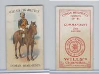 W62-417 Wills, Indian Regiments, 1912, #41 Commandant, Jind Lancers