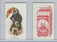 W62-356 Wills Tobacco, Flag Girls of All Nations, 1908, #2 Scotland