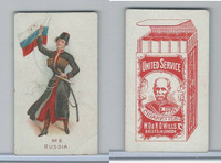 W62-356 Wills Tobacco, Flag Girls of All Nations, 1908, #8 Russia