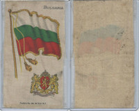 S35 American Tobacco Silk, Flags & Arms, 1910, Bulgaria (3 X 5 in) (B)