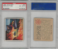 1950 Bowman, Wild Man, #18 Rescue At Sea, PSA 6 EXMT