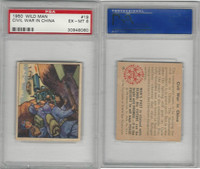 1950 Bowman, Wild Man, #19 Civil War In China, PSA 6 EXMT