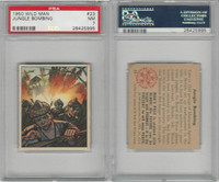 1950 Bowman, Wild Man, #23 Jungle Bombing, Malaya, PSA 7 NM