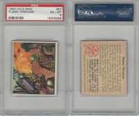 1950 Bowman, Wild Man, #57 Flame Thrower, PSA 6 EXMT