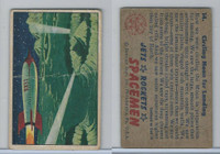 1951 Bowman, Jets, Rockets, Spacemen, #14 Circling Moon For Landing