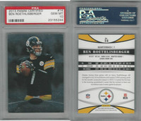 2013 Panini Certified Football, #14 Ben Roethlisberger, Steelers, PSA 10 Gem