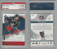 2008 Upper Deck SP Hockey, #142 Rick Nash, Blue Jackets, PSA 10 Gem