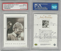2001 Upper Deck Golf, #GG1 Jack Nicklaus HOF, PSA 10 Gem
