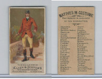 N16 Allen & Ginter, Natives In Costume, 1886, England