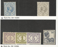 Netherlands Antilles, Postage Stamp, #19, 23, 45-46, 54, 63 Mint Hinged
