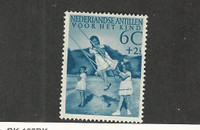 Netherlands Antilles, Postage Stamp, #B12 Mint No Gum, 1951
