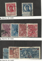 Poland, Postage Stamp, #247-248, 263-266, 284-286 Used, 1927-1934