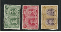 Rhodesia, Postage Stamp, #101-102, 105 Mint Hinged, 1910