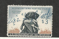 United States, Postage Stamp, #RW26 Used, Duck Stamp 1959 Crease