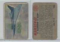 1951 Bowman, Jets, Rockets, Spacemen, #106 Avro 707