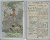 K2 Arbuckle Coffee, Subjects On Cooking, 1890, #6 Pigs (B)