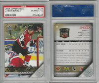 2005 Upper Deck Hockey, #133 Jason Spezza, Senators, PSA 10 Gem