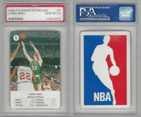 1988 Fournier Estrellas Basketball, #1 Lary Bird HOF, Celtics, PSA 10 Gem