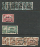 Allenstein - Germany, Postage Stamp, #9//12 Lot Used, 1920 (p) Nice Cancels