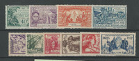 French Guinea, Postage Stamp, #116-125 Mint Hinged, 1931-37 (p)