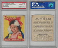 R773 Goudey, Indian Gum, 1947, #74 Little White Cloud, PSA 6 EXMT