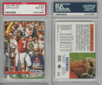 1992 Pro Set Football, #155 John Elway HOF, Broncos, PSA 10 Gem