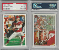1994 Fleer Football, #226 Joe Montana HOF, Chiefs, PSA 10 Gem