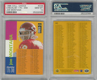 1995 Upper Deck CC Football, #348 Joe Montana HOF, Chiefs, PSA 10 Gem