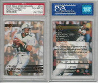 2000 Collectors Edge Football, #101 Chad Pennington, Marshall, PSA 10 Gem