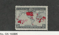 Canada, Postage Stamp, #85 Mint LH, 1898 Map British Empire