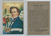 1952 Bowman, U.S. Presidents, #17 Franklin Pierce
