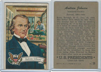 1952 Bowman, U.S. Presidents, #20 Andrew Johnson
