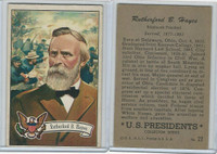 1952 Bowman, U.S. Presidents, #22 Rutherford B. Hayes
