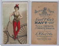 N100 Duke, Bicycle & Trick Riders, 1890, Balanced on Pedal